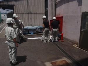 ②消火栓展開訓練